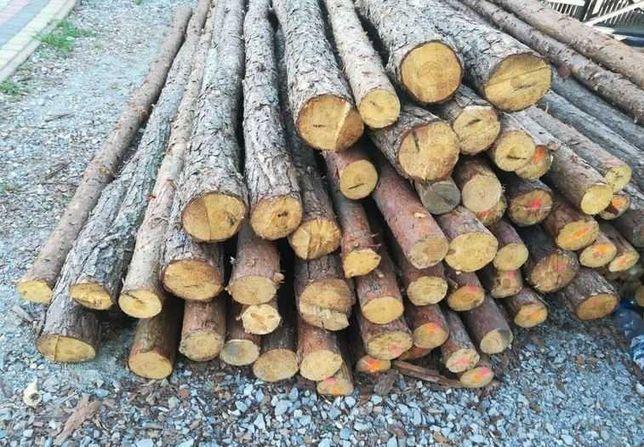 Stemple budowlane drewniane - długość 2,80-2,85 m / 110 sztuk