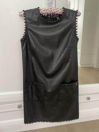 Продам платье из эко-кожи марки waggon(zara, sandro, maje)