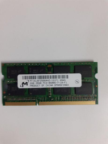Memória RAM 2GB 2Rx8 PC3-8500S-7-10-F1
