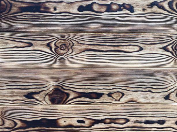 Deska postarzana opalana rustykalna impregnowana sosna