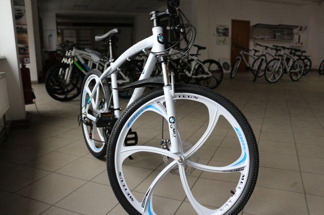 +ПОДАРКИ! 3 Цвета Велосипед на литых дисках БМВ BMW 17 рама, 26 диски