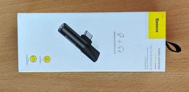 Перехідник 2in1 USB-C to 3,5 minijack та usb-c від Baseus