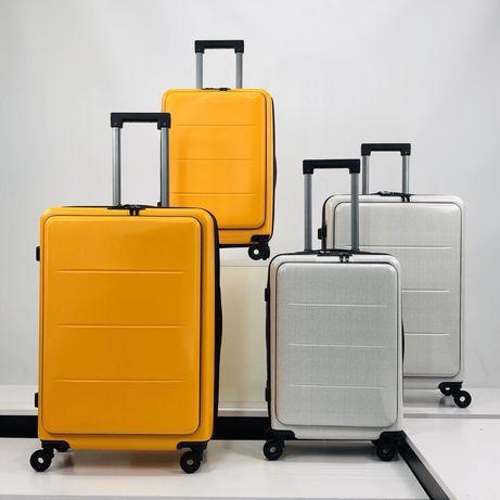 Дорожный чемодан Xiaomi, белый карбон из поликарбоната, мод. 330