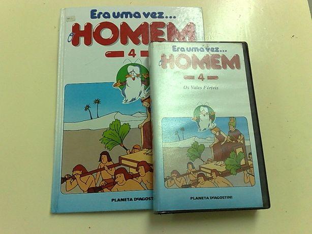 Livro Era uma vez o Homem N. 4 + Filme em VHS - Novo