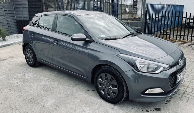 Hyundai I20 szary metalik 43 tyś przebiegu, gwarancja