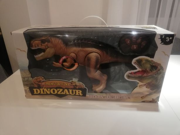 OKAZJA DUŻY Sterowany Dinozaur ROBOT LED MUZYKA PL Zabawka Prezent