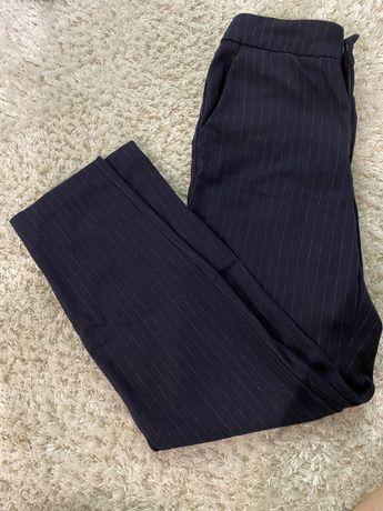 spodnie eleganckie w kant w paski h&m S