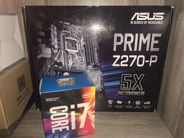 Комплект i7-7700+Asus prime z270-p+16GbDDR4