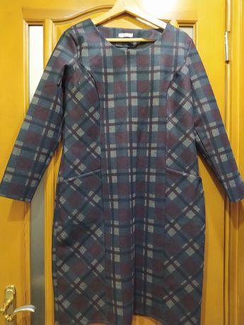 Платье зимнее темлое 52р стреч
