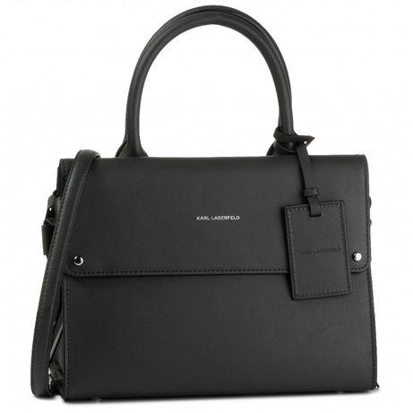 Karl Lagerfeld k/ikon top handle black torebka czarna