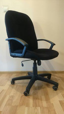 Fotel biurowy, obrotowy,  czarny, materialowy