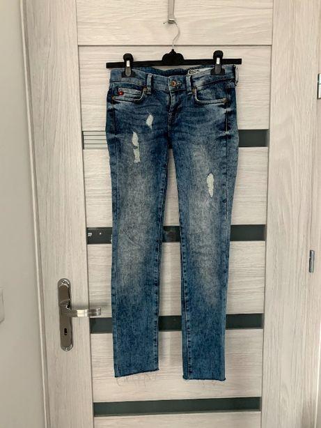 Spodnie jeans Big Star, przetarcia, STAN BARDZO DOBRY