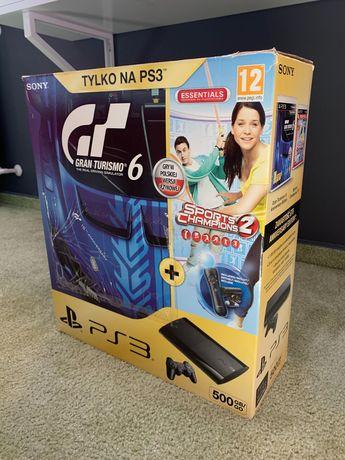 Konsola Ps3, 500GB + kamerka, nowe z pudełkiem + dwie gry
