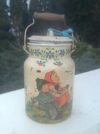Kanka, konwia, bańka na mleko lub zupę z czasów w PRL-u