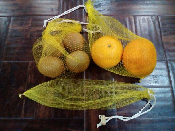 Сеточки-мешочки эко для фруктов и овощей zero waste