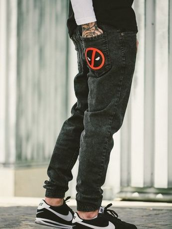 Spodnie jeansowe jogger Deadpool Marvel