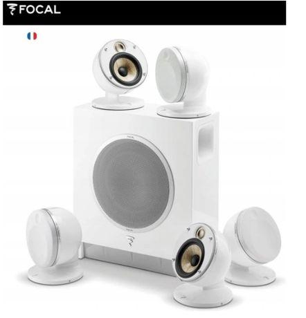 Głośniki Kina domowego natynkowe - FOCAL DOME 5.1 FLAX SUB AIR WHITE