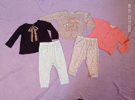 Zestaw 5 szt  haremki bluzka H&M Zara roz. 92