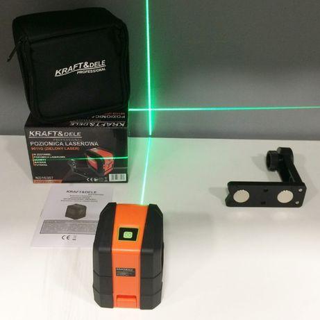 Laser krzyżowy zielony poziomnica Kraft&Dele KD10307