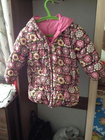 Двусторонняя куртка (пуховик пальто) детская зимняя непромокаемая