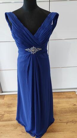 Kobaltowa Sukienka wieczorowa MIDI S