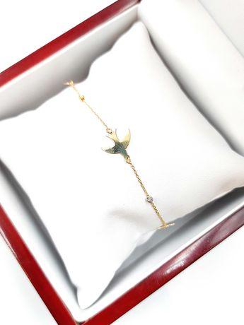 Złota bransoletka Pr. 585 Waga: 1,70 G Plus Lombard