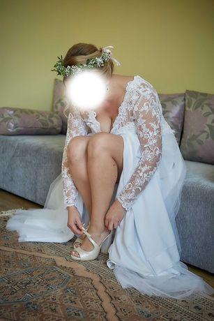suknia ślubna 38/40 pokrowiec gratis