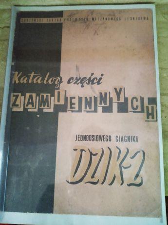 Katalog części zamiennych ciągnika jednoosiowego Dzik-2.