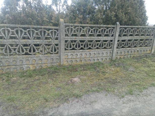 Płot betonowy ogrodzenie betonowe rozebrany