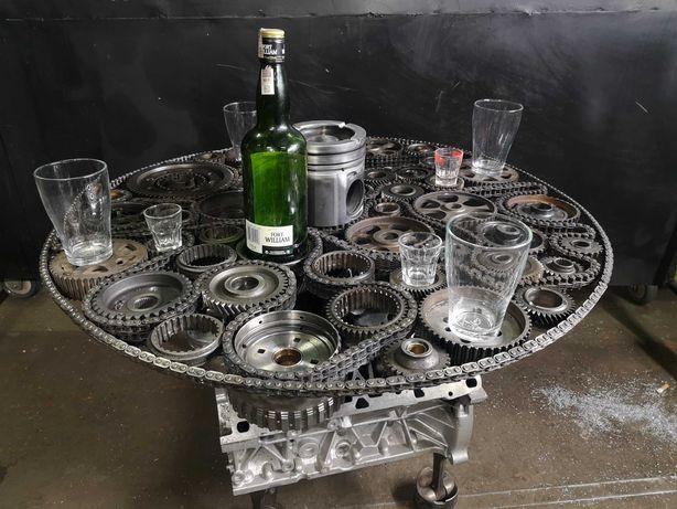 Stolik z silnika V8 industrialny loft indywidual