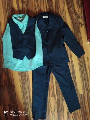 Костюм классический тройка+рубашка,HM, р.122,для школы,первоклассника