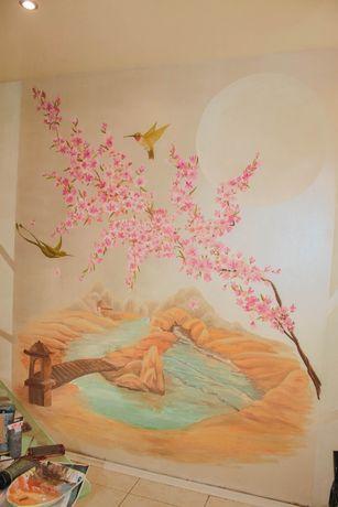 Рисунок Художественная роспись стен Отделка стен
