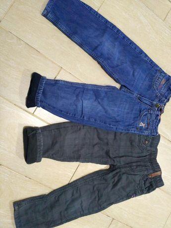Утепленные брюки джинсы