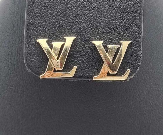 Złote Kolczyki Louis Vuitoon 1,50g 585p