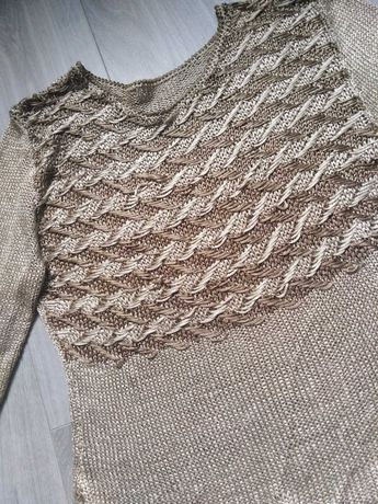 Sweterek ręcznie robiony na drutach, sweter hand made