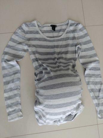 Bluzka ciazowa sweterek xs. Paski. H&M mama +gratis drugi sweterek