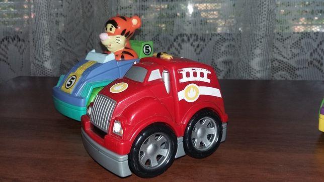 Машинки LEGO пожарная машина и две гоночные