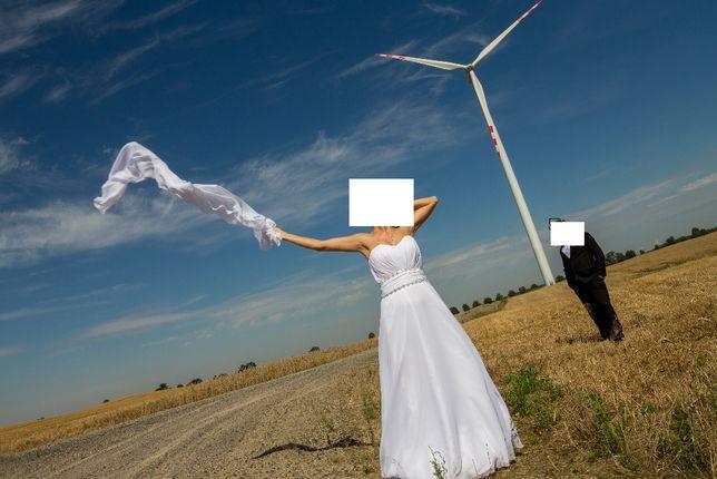 Suknia ślubna rom.36