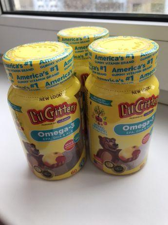 Омега 3 Omega-3, Raspberry-Lemonade Flavors, 60 Gummies