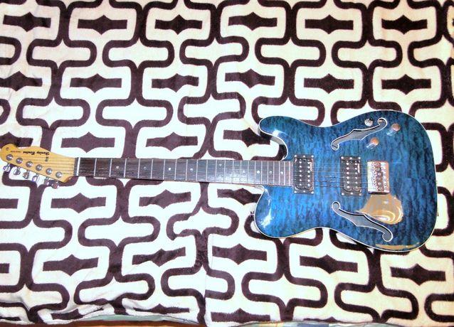 Gitara el. Harley Benton TE-90QM HH Trans Blue po korekcji lutniczej