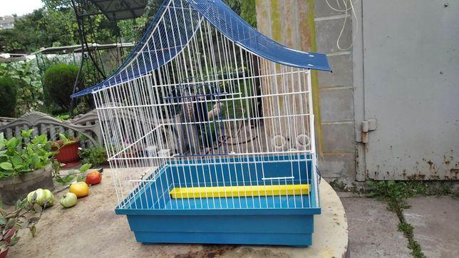 Продам большую клетку для птиц с поилкой ,кормушками, зеркалами и лесе