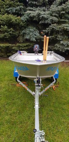 Łódź łódka wędkarska aluminiowa