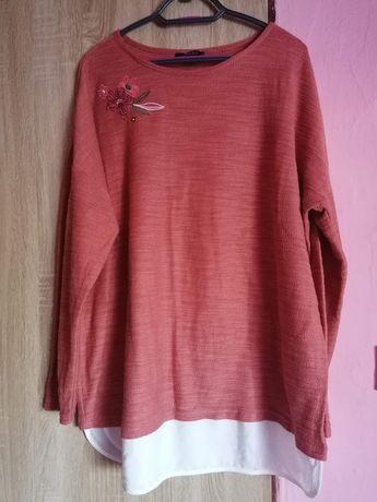 Pomaranczowy sweter kwiat 52/54