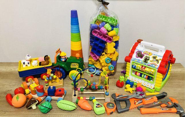 Набор игрушек музыкальный дом/трактор/пирамида/сортер