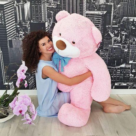 Мягкая игрушка Zolushka Медведь Бо 137 см розовый