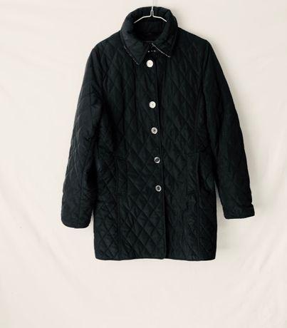Perso - czarna kurtka, pikowana, płaszcz, rozmiar M