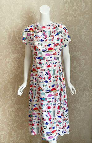 Emporio Armani оригинал Италия дизайнерское шелковое платье миди