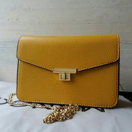 Новая брендовая сумка Mango ярко-желтого цвета