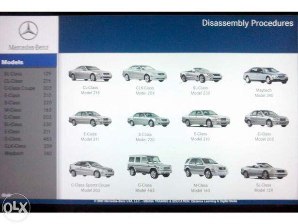 CD c/ vídeos reparação Mercedes benz