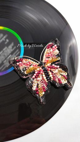 Biżuteria broszka motyl